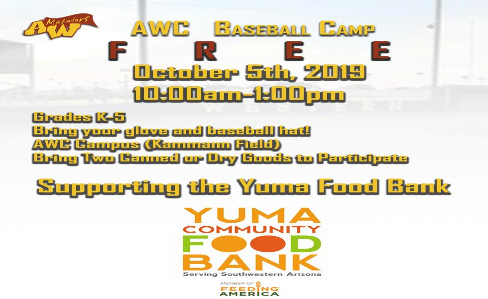 Free AWC Baseball Camp for K-5